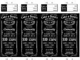 Jack and Jill Tickets Templates Vista Print Raffle Tickets Arts Arts