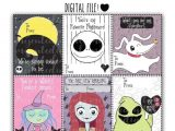Jack and Sally Valentine Card Nightmare before Christmas Digital Valentine S Day Cards