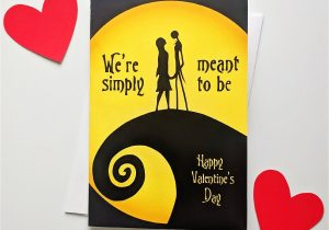 Jack and Sally Valentine Card Pin On Valentine S Day Cards