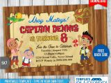 Jake and the Neverland Pirates Birthday Invitation Template Jake and the Neverland Pirates Invitation 2 by