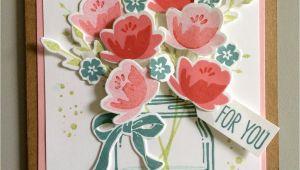 Jar Of Love Card Ideas Jar Of Love Stampin Up Mason Jar Cards Cards Handmade