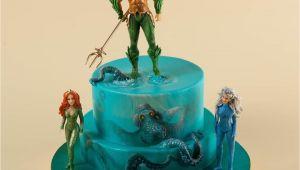 Jason Momoa Happy Birthday Card Awesome Aquaman Cake Cake Dc Cake Birthday Party Cake