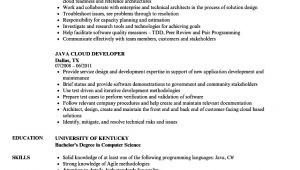 Java Microservices Sample Resume Java Developer Cloud Resume Samples Velvet Jobs
