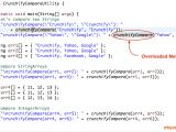 Java String Template Best Way to Compare String Arrays Integer Arrays and