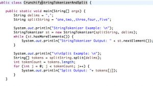 Java String Template Java Stringtokenizer and String Split Example Split by