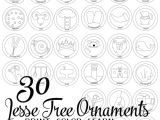 Jesse Tree ornament Templates Jesse Tree ornaments to Print and Color Do Small Things