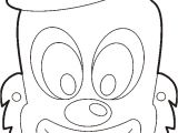 Jester Mask Template Drawn Clown Purim Pencil and In Color Drawn Clown Purim