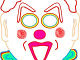 Jester Mask Template Free Printable Clown Mask Full Color Paper Clown Mask to