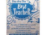 Jk Arts Teachers Day Card Natali Farewell Gift for Teachers Best Teacher Scroll Card