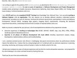Job Application Letter for software Engineer with Modern Resume Get Help with Homework Homework Help Chemistry Mastech