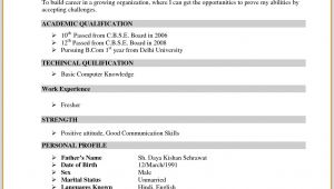 Job Bcom Student Resume Image Result for Resume format for Bcom Freshers Sample