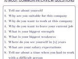 Job Interview Resume Questions Negotiating Table Answer the 10 Most Common Interview