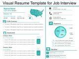 Job Interview Resume Template Visual Resume Template for Job Interview Presentation