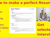 Job Interview Resume Youtube How to Make A Perfect Resume Youtube