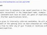 Job Opening Email Template Job Announcement
