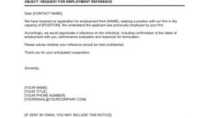 Job Reference Email Template Request for Employment Reference Template Word Pdf