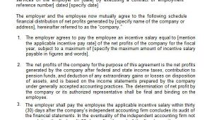 Job Share Contract Template 11 Profit Sharing Agreement Templates Pdf Doc