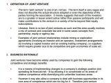 Joint Venture Business Plan Template 10 Joint Venture Templates Sample Templates