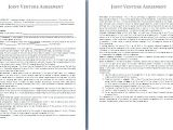 Joint Venture Business Plan Template 3 Sample Joint Venture Agreementreport Template Document