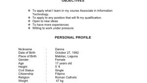 Jollibee Working Student Resume Example Of Resume Jollibee Omutantex