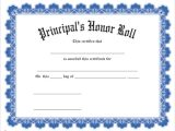 Jones Certificate Templates Principals Award for Students Wording Just B Cause