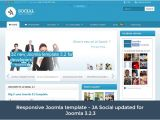 Joomla 3.2 Templates Responsive Joomla Template Ja social for T3 V1 0 3