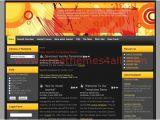Joomla Cms Templates Free Download Retro Black orange Joomla theme Download