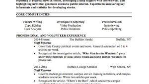 Journalism Student Resume Journalist Resume Sample Internships Com