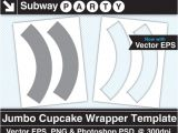 Jumbo Cupcake Wrapper Template Jumbo Size Cupcake Wrapper Template Vector Eps Photoshop