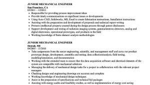Junior Mechanical Engineer Resume Junior Mechanical Engineer Resume Samples Velvet Jobs