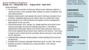 Junior Planning Engineer Resume Junior software Engineer Resume Samples Qwikresume