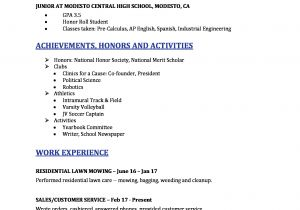 Junior Student Resume High School Resume Resumes Perfect for High School Students