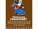 Junk Removal Flyer Template Junk Removal Business Custom Tear Sheet Flyer Zazzle