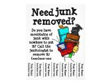 Junk Removal Flyer Template Junk Removal Flyer Zazzle