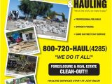 Junk Removal Flyer Template Pictures for Ace Hauling Junk Removal Demolition In