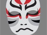 Kabuki Mask Template Japanese Kabuki Mask Www Pixshark Com Images Galleries