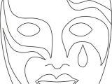 Kabuki Mask Template Maschera Veneziana 8 Disegni Da Colorare Per Adulti