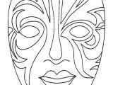 Kabuki Mask Template Masques Masque De Carnaval A Colorier