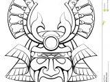 Kabuki Mask Template Samurai Mask Helmet Stock Vector Illustration Of Sameri