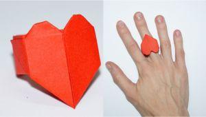 Kagaj Ka Greeting Card Kaise Banaye Diy Paper Crafts Ideas for Valentines Day Heart Ring Julia Diy