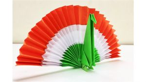 Kagaj Se Greeting Card Banana Diy Paper Peacock origami Peacock Diy Independence Day Decor Republic Day Craft