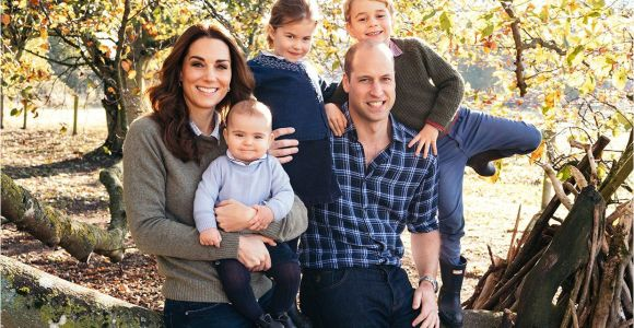Kate and William Christmas Card Prince Louis Cheeky Grin Lights Up Kate and William S