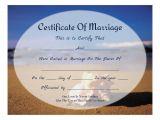 Keepsake Marriage Certificate Template 8 Best Images Of Free Printable Beach Certificate Free