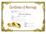 Keepsake Marriage Certificate Template Certificate Of Marriage Template 2 Best 10 Templates