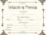 Keepsake Marriage Certificate Template Marriage Certificate Template 22 Editable for Word