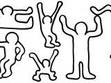Keith Haring Figure Templates Ausmalbilder Keith Haring Kostenlos Malvorlagen Zum