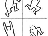 Keith Haring Figure Templates Keith Haring Coloring Sheets Coloring Pages