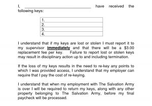 Key Holding Contract Template 50 Detail Employee Key Holder Agreement form Ro Q119129