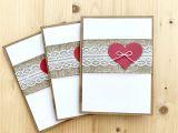 Key to My Heart Anniversary Card Handmade Greeting Cards Rustic Valentine Card Set Burlap