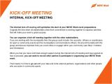 Kick Off Meeting Email Template 2015 Move Agents events organization toolkit